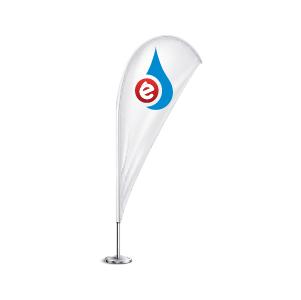 bandera publicitaria playa interior exterior