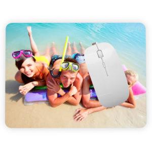 alfombrilla raton personalizable con foto y texto online