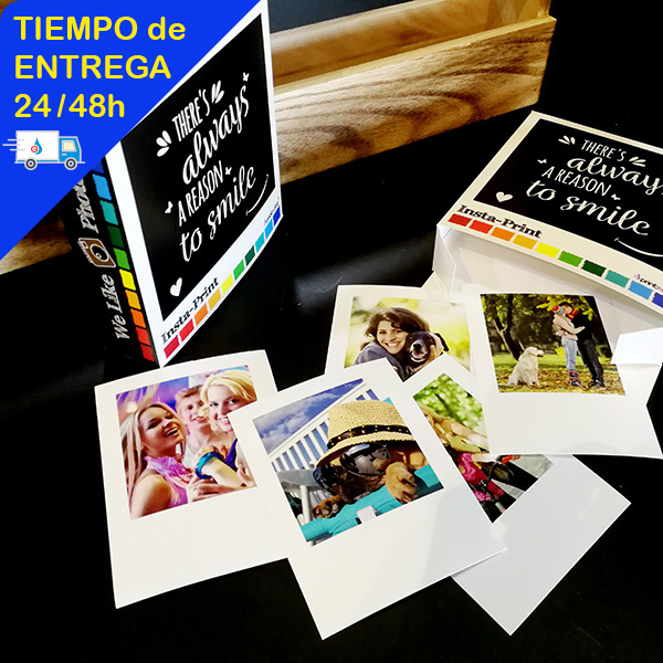 pack polaroid con pinzas, cuerda y caja