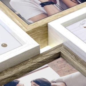 marco de madera para 6 fotos 10x15