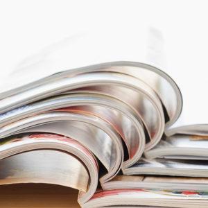 Encuadernación grapada para catálogos, manuales, folletos, revistas. Diferentes formatos: Din A4, 20x20, Din A5. El lomo cuadrado crea un acabado elegante.