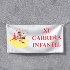 Impresión en tela para pancartas, banderas, fly banner, promociones, carteles para inmobiliarias, eventos, ferias, congresos, etc.