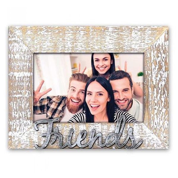 marco de madera friends con foto 10x15