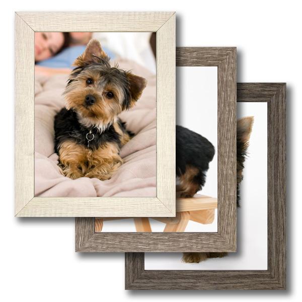 pack de tres marcos de madera con foto