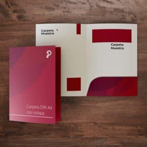 carpeta bolsillo impresa identidad corporativa